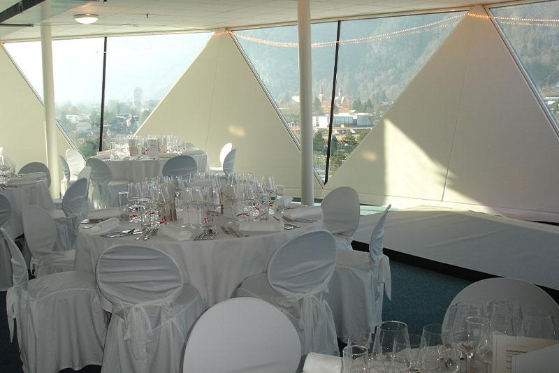 Eventlocation Panoramakugel JungfrauPark Interlaken - Hochzeit, Taufe